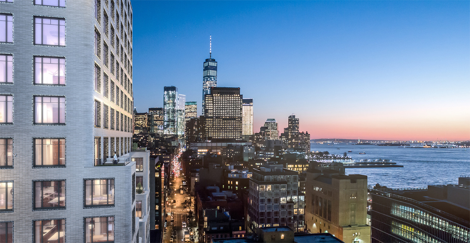 Greenwich West, West Soho, New York City, Greenwich West - downtown sunset and Hudson river views — © Loci Anima