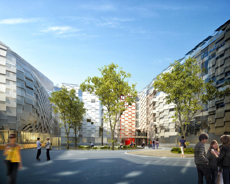 Bercy bureaux & gymnase, Paris — © Loci Anima